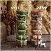 Tiki-tassen Cocktail Cup Bier Wein Becher Keramik Tiki Bechern Kunsthandwerk Kreative Hawaii Tassen