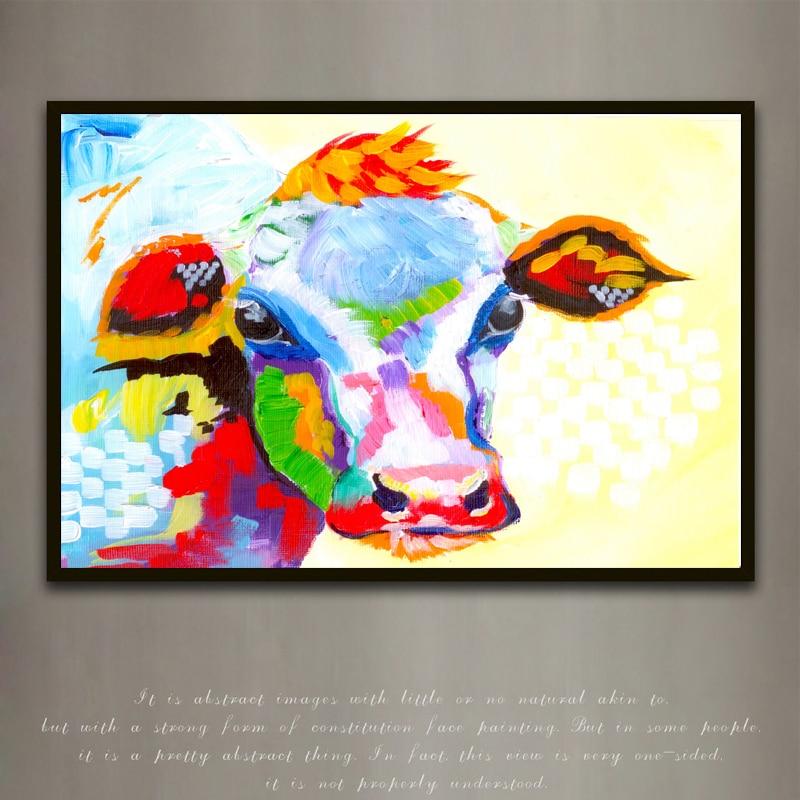 Berėmiai paveikslėliai Abstraktus karvės spausdinimas Tapyba - Namų dekoras - Nuotrauka 1