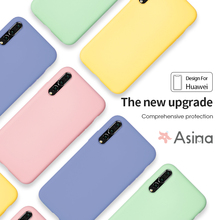 ASINA Case For Huawei P20 Lite Original Liquid Silicone Plain Clear Bumper P30 Mate 20 Coque Capa
