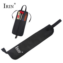IRIN Drum Stick Gig Bag Impermeable Oxford Cloth Drumsticks Case Holder con Handy Strap Instrumentos de percusión Piezas Accesorios