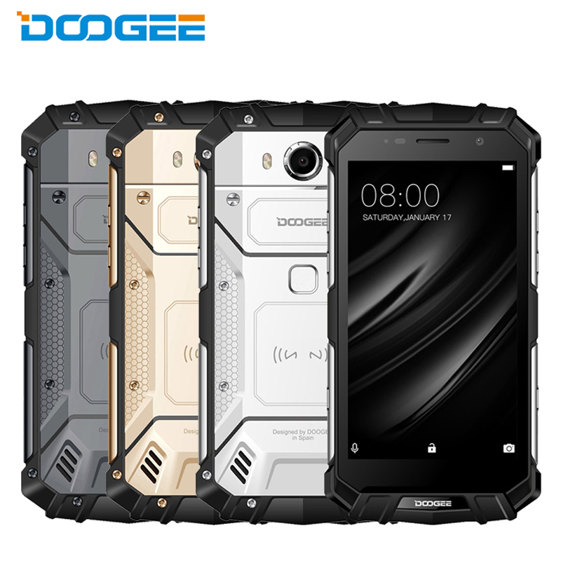 New DOOGEE S60 Lite IP68 Waterproof Cell Phone 5.2 4GB RAM 32GB ROM MTK6750T Octa Core Android 7.0 Wireless Charge Smartphones