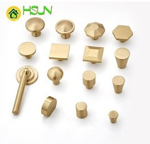 Copper Northern Europe Golden Foramina Singulare Modern Concise Cupboard New Chinese Style Brass Shoe Wardrobe Door Handle