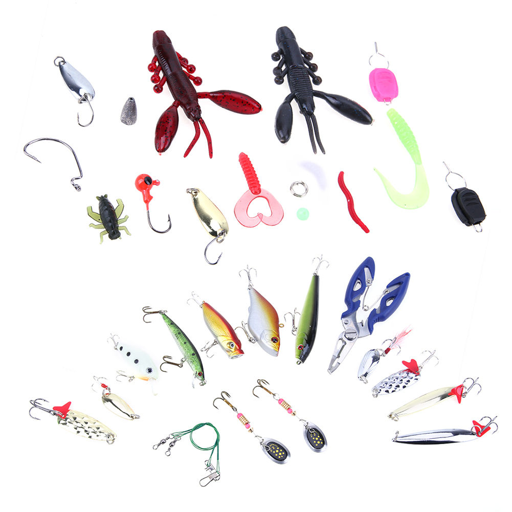 101pcs Fishing Lures Set Soft Fishing Accessories Hooks De Pesca Hard Baits Kit Crank Baits Crankbaits in Storage Box 372g 101pcs set almighty fishing lures kit with box hard soft bait minnow spoon crank shrimp jig lure fishing tackle accessories