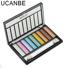 UCANBE Brand Cosmetic 9 Color Shimmer Eye Shadow With Brush Warm Cool Colors Naked Makeup Long-Lasting Glitter Eyeshadow Palette