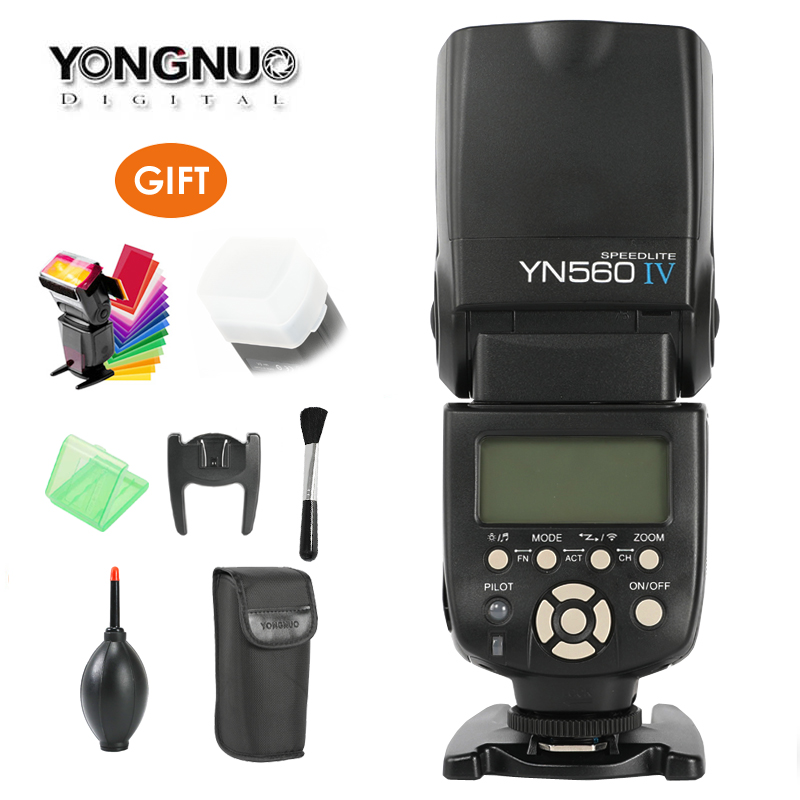 YONGNUO YN560 IV 2.4G Wireless Flash Speedlite w/ Radio Master Mode YN560IV for Canon Nikon Pentax Olympus Panasonic Camera DSLR yongnuo yn 560 iv yn560iv yn560 iv universal wireless flash speedlite for canon nikon pentax olympus fujifilm panasonic gh4 gh3