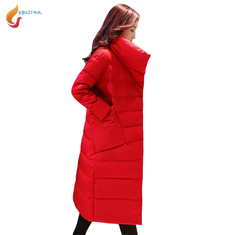 JQNZHNL 2017 New Winter Parkas Women Solid Color Thicken Down Cotton Coats Outerwear Fashion Medium Long Casual Cotton Coat L731 jqnzhnl 2017 fashion women solid color hooded loose cotton padded jacket down parkas winter medium long pockets cotton coats c61