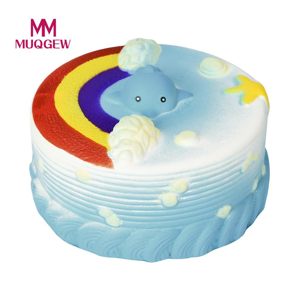 Fun antistress Cake Jumbo Rainbow Squeeze Squishy Toys Slow Rising 11CM Squeeze Stretchy Galaxy Healing Stress kids adults toys