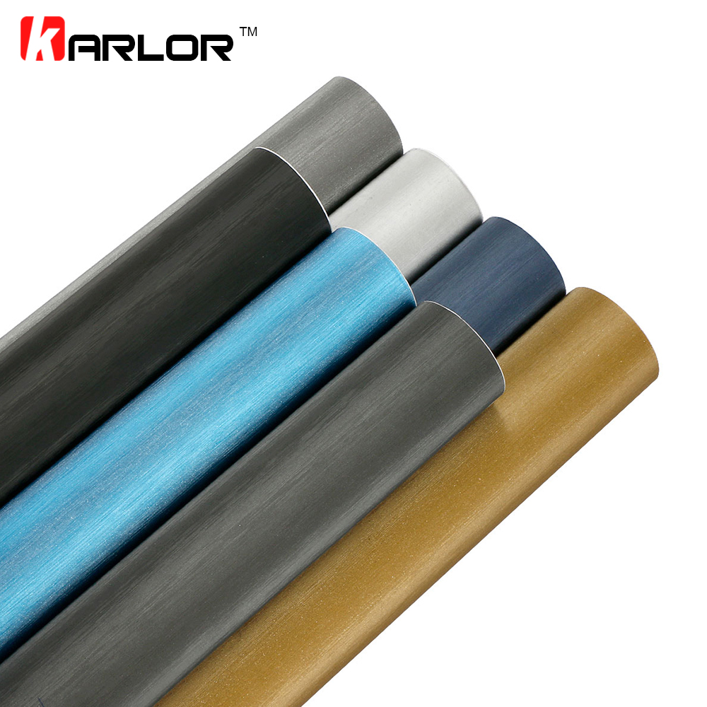 30cmX100cm Car Styling Matt Brushed Car Wrap Vinyl Film Sheet Bubble Free Air Release Motorcycle Automobiles Car Stickers Decal(China)