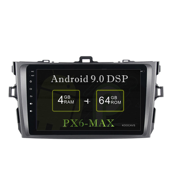 """KOOCAVS 8"""" IPS Android 9.0 Car GPS Radio Player for Toyota Corolla  2008 2009 2010 2011 with 4GB+64GB Stereo Multimedia Headunit"""
