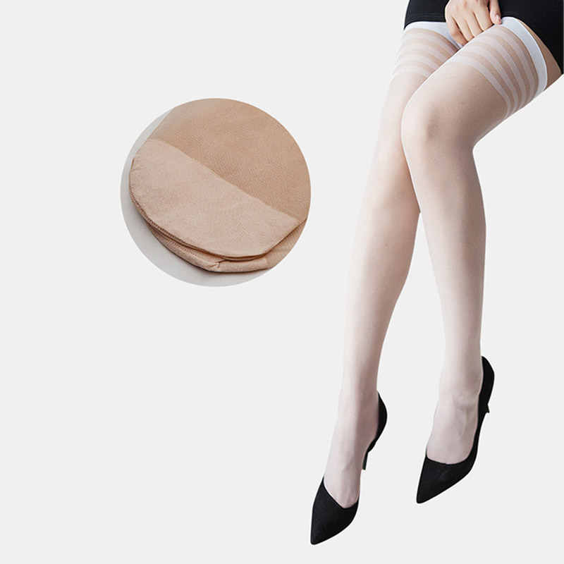 22cdbd200ed Aliexpress.com   Buy Sexy Stocking Adults Women Stripe Stockings Thigh High  Black White Stay Up Skid Resistance leggings Long Stockings Winter from  Reliable ...