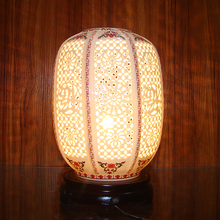 chinese traditional ceramic table lamp country style study room porcelain desk lamp made from capital of porcelain jingdezhhen
