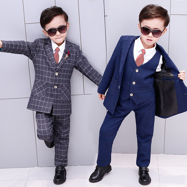 f4aa4d608c0c British Style Plaid child costumes good quality little boys party ...
