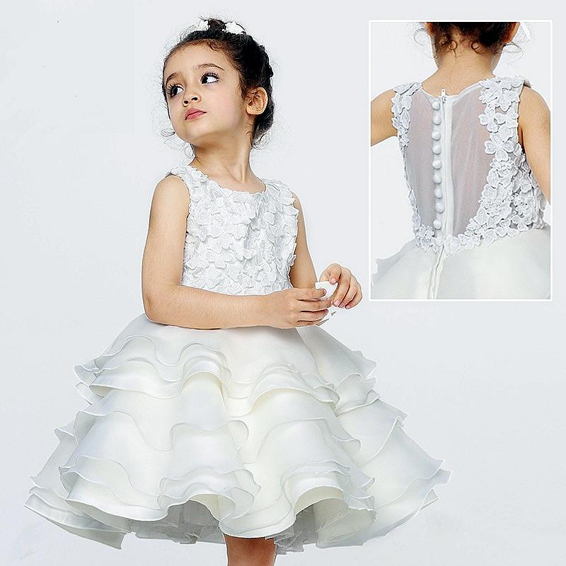 Paris Wedding Gowns: Kids Wedding Dress Hollow Ventilating Paris Classic Design
