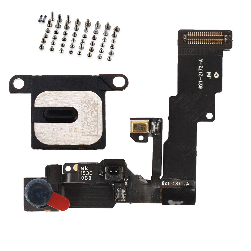 For IPhone 6 6Plus 6s 6s Plus Front Facing Camera Proximity Light Sensor Flex Cable With Earpiece Speaker + Full Set Screws