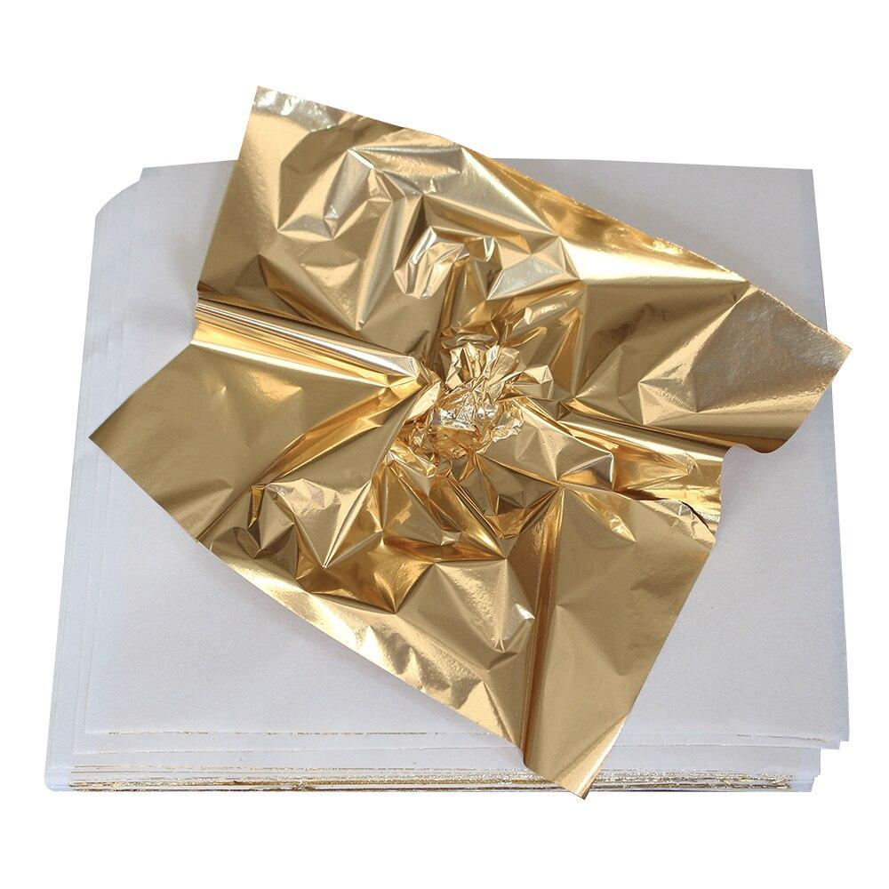 500PCS Taiwan Grasping Antique Copper leaf shiny Imitation Gold foil Gilding