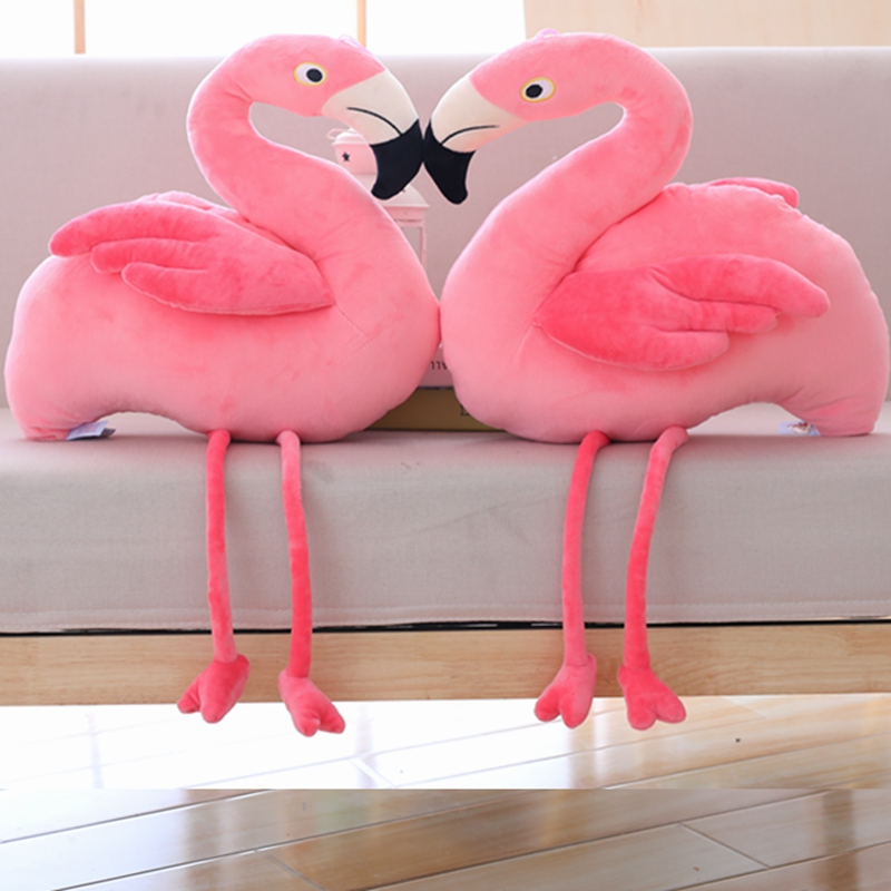 45 cm barato Chinês recheado de pelúcia rosa flamingo cor de rosa ... e89b13c4677a8