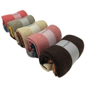 Image 4 - 5 пар/лот, толстые шерстяные носки, женские зимние кашемировые хлопковые теплые носки, очаровательные женские носки