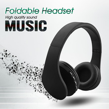 Bluetooth 4.0 Headphone Stereo Wireless Noise Canceling Headset LH811 Foldable Earphone Hands-free TF MP3 FM Radio with Mic