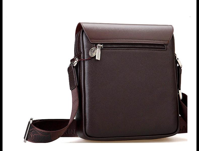 New Arrived luxury Brand men's messenger bag Vintage leather shoulder bag Handsome crossbody bag handbags Free Shipping 11