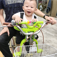 Children Bike Seats Stainless Steel Plastic Road Folding Bike Safety Chair For Kids Baby Can Be