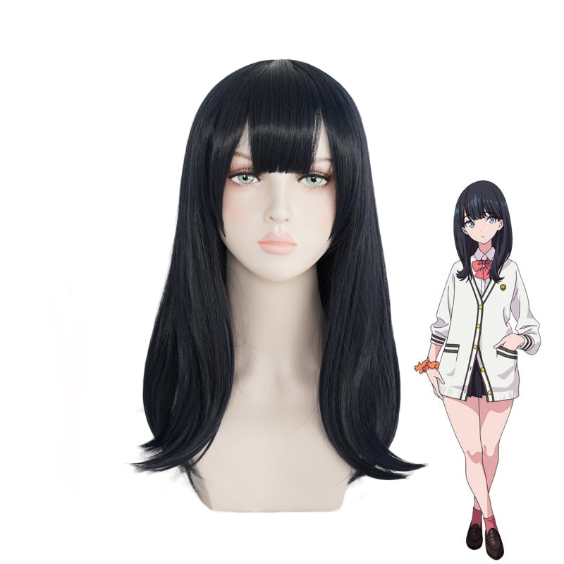 Anime SSSS.GRIDMAN Takarada Rikka Wig Cosplay Costume Women Heat Resistant Synthetic Hair Halloween Party Role Play Wigs