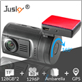 Jusky Mini 0806 Ambarella A7 A7LA50 Car Camera Super 1296P Night Vision Car DVR GPS Dash Cam Support 2*128GB TF,Motion Detection