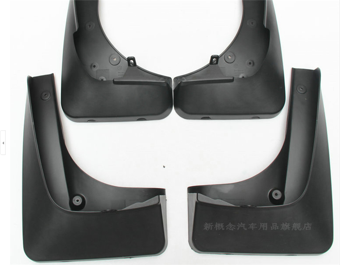 High quality!Molded Splash Guards Mud Flaps 4pcs for BMW X5 E70 2011-2012  цены