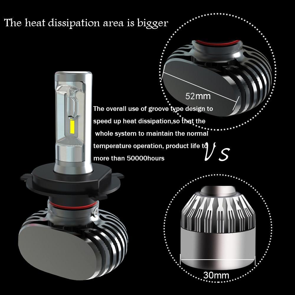 MyHung LED Headlight Bulb H4 9004 9007 Hi-Lo Beam S1 Lampu Mobil 50 W - Lampu mobil - Foto 3