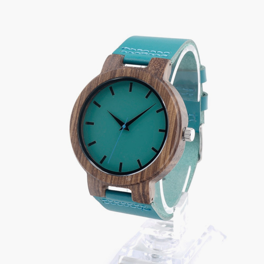 mens watch box personalized promotion shop for promotional mens new high quality retro personality bamboo wood watch men and women quartz movement casual wooden watch gift box water blue