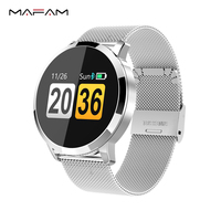 MAFAM Q8 Smart Watch OLED Color Screen Smartwatch Men Women Fashion Fitness Tracker Heart Rate Monitor For IOS Android Watch