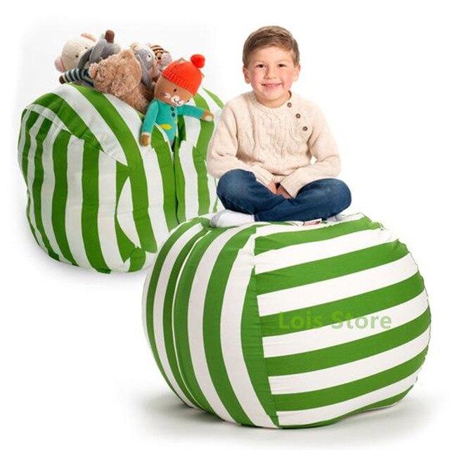 זרוק חינם ממולא בעלי החיים תיק אחסון שקית שעועית ילדים לשחק צעצועי ארגונית בד תיק דברים 'n לשבת