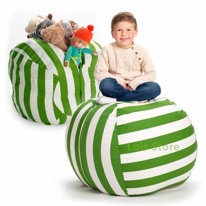 Drop Shipping Animal de Pelúcia Saco De Armazenamento Saco de Feijão Crianças Brincam Brinquedos Organizador Saco de Lona stuff' n Sit