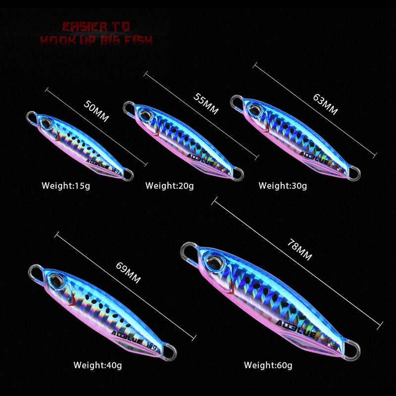 ALLBLUE, Новая Металлическая литая джиговая блесна, 15 г, 30 г, литье на суше, джиггинг, свинцовая рыба, морской бас, рыболовная приманка, искусственная приманка, снасти