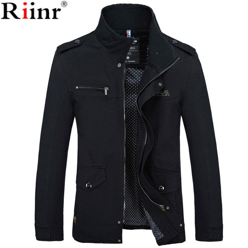 Riinr 2017 Brand New Arrival Male Jacket Slim Fit High Quality Mens Autumn  Clothing Man Jackets Zipper Warm Cotton-Padded мужские кожанные куртки с косой молнией