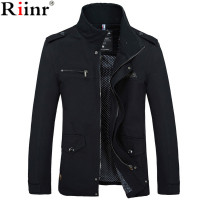 Riinr 2017 Brand New Arrival Male Jacket Slim Fit High Quality Mens Autumn Clothing Man Jackets