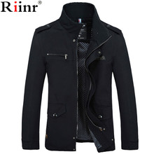 Male Jacket Coat Spring-Clothing Slim-Fit Cotton-Padded Zipper Warm Mens High-Quality