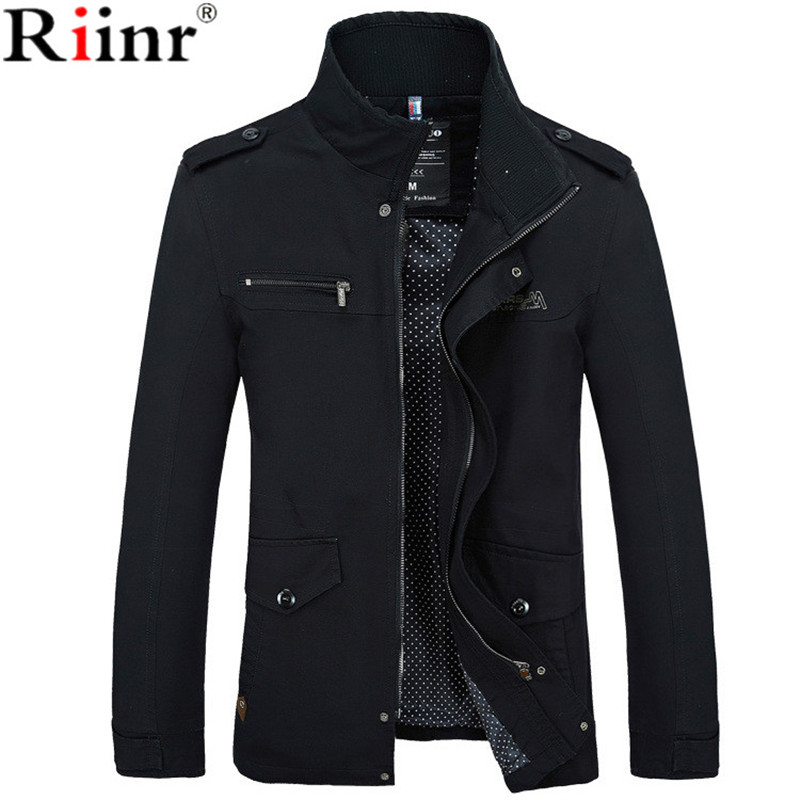 Riinr 2017 Brand New Arrival Male Jacket Slim Fit High Qualis