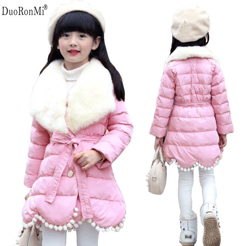 New Girls Winter Jackets Kids Hooded Coats Thick 4-11Y Children Warm Parkas Girl Winter Coat With Faux Fur High Quality Outwear fashion male watches men top famous brand gold wrist watch leather band quartz casual big dial clock relogio masculino hodinky36