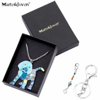 Marte Joven Personalized Beagle Puppy Enamel Pendants Jewelry Women Dog Choker Pendant Necklace Gift For Birthday