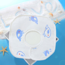 6 Layers of Gauze Octagonal Bib Baby Cotton Saliva Towel 360 Degree Rotating Supplies One Piece with Shipping