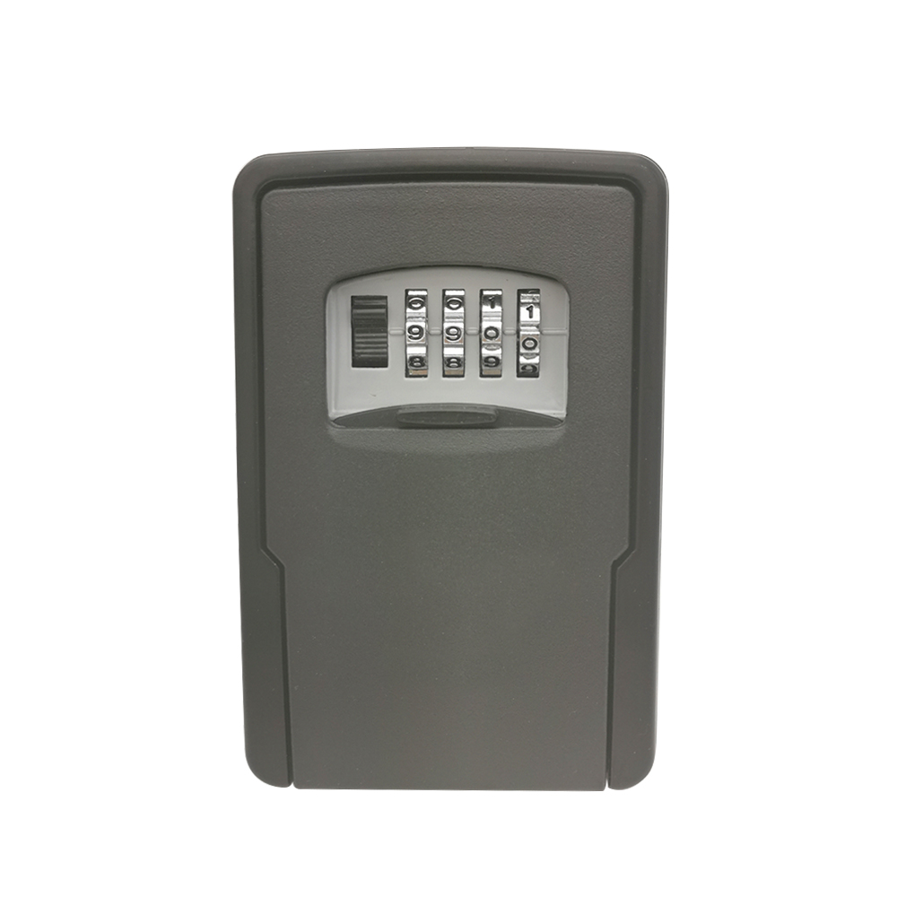 Wall Mounted Key Lock Box For House Keys Car Keys For Home Office With 4-Digit Combination Key Storage Lock Box