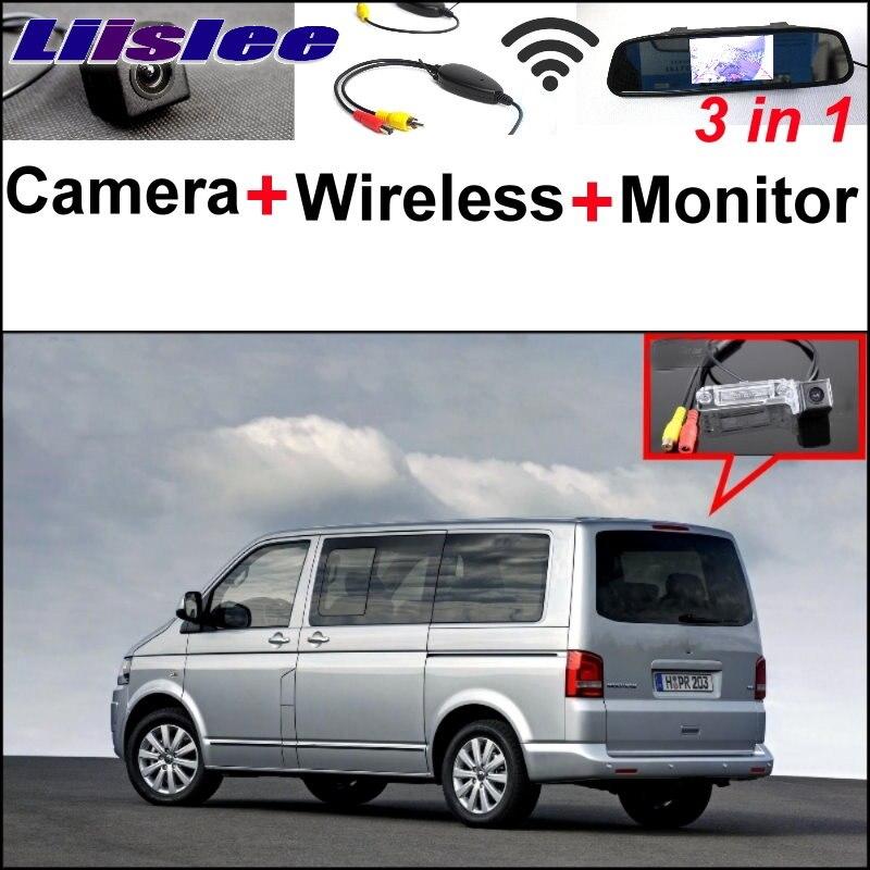 Liislee Special Camera + Wireless Receiver + Mirror+Monitor Parking System For Volkswagen VW T5 Transporter Caravelle Multivan