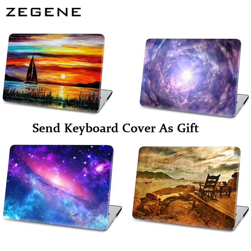 For Macbook Case Air 11 New 12 Pro 13 15 Retina With Touch Bar Cases Fantasy Sky Warmful Scenery For Mac A1706 A1708 Cover