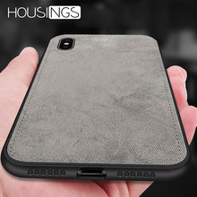 Magnetic Fabric Cloth Case For iPhone 7 8 plus XR XS Max Ultra-thin Anti-fall Soft Silicone X 6 6s Plus Cover