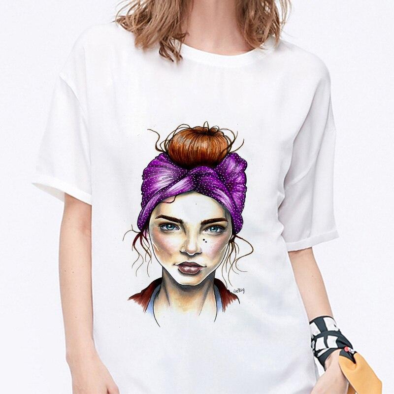 Summer 19 T shirt Women Harajuku Print Vintage Female Casual Fashion Tshirt O-neck Short Sleeve T-shirt White Tops Clothing 10