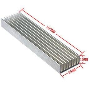 Image 5 - עמיד כסף אלומיניום מקרין סנפיר קירור צלעות קירור 100*25*10MM עבור LED כוח טרנזיסטור חשמל רדיאטור שבב