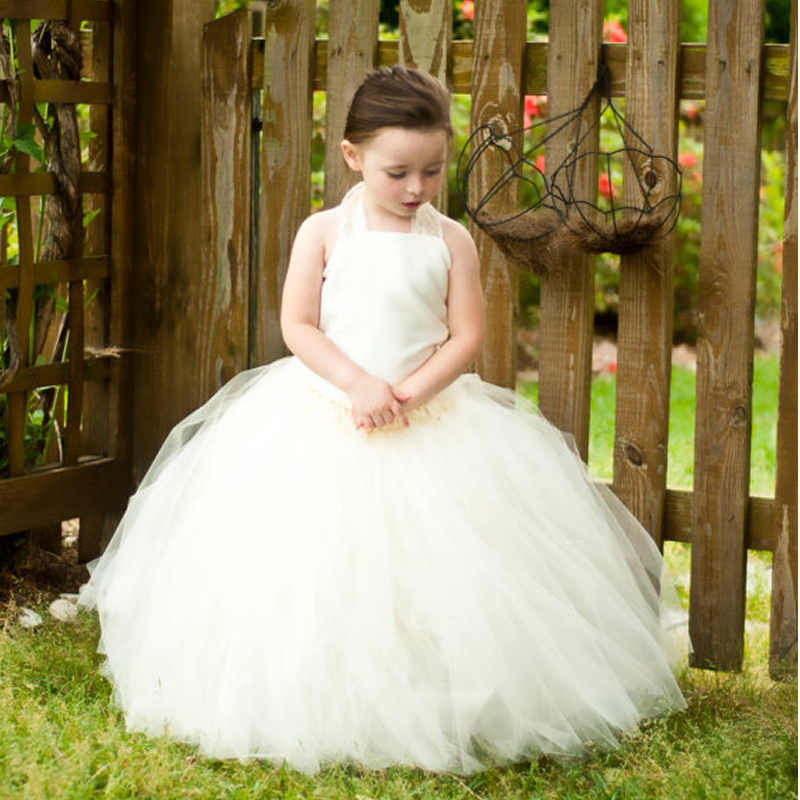 2016 Top quality Princess Flower Girl Dresses Naibai and Blue 2-12Y Cute Lace Kit Draped Ball Gown Wedding party Kids Party