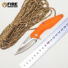 BMT MDF-2 Folding Knife D2 Blade orange G10 handle Camping Pocket Outdoor Survival Knives Hunt EDC Tools OEM