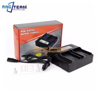 LPE6 LP E6 Battery Quick Dual Charger with LCD for Canon Digital Cameras EOS 5D Mark 2 3 4 6D 6D2 7D 7D2 60D 60Da 80D XC10
