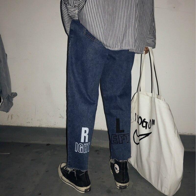 bleu Pantalon Hommes Denim Baggy Personnalité Black 2018 Classique Hiver Occasionnels De Haren Jeans xl Impression S Fond Homme blue Noir Biker Xvawqf